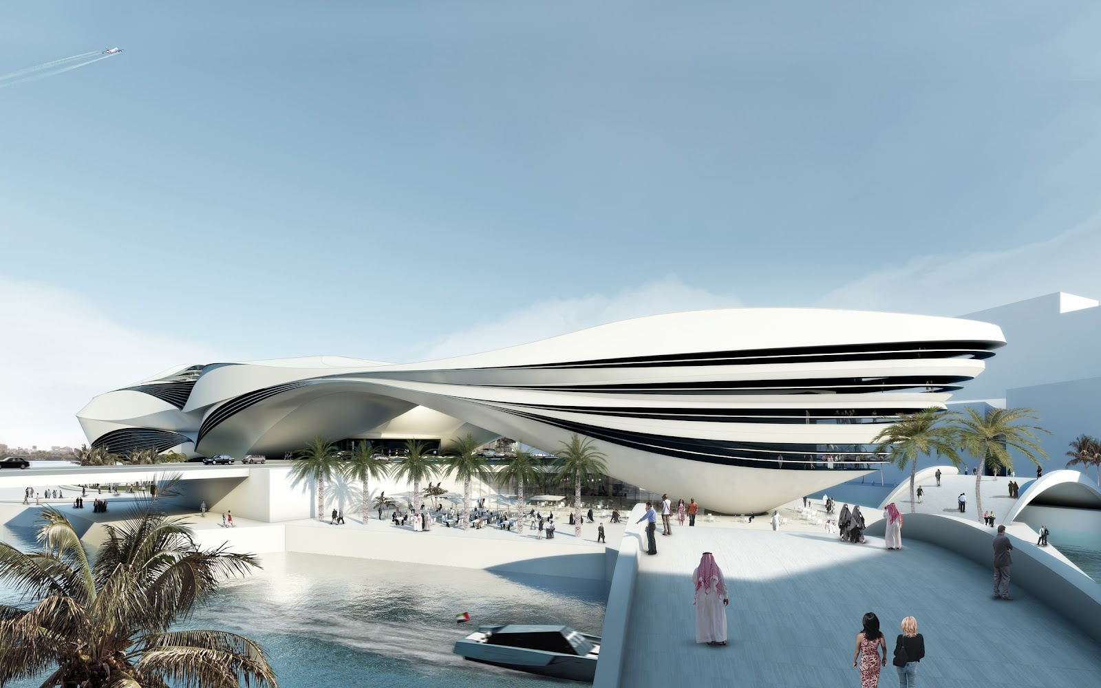 Modern architecture museum of middle eastern modern art by unstudio dubai uae