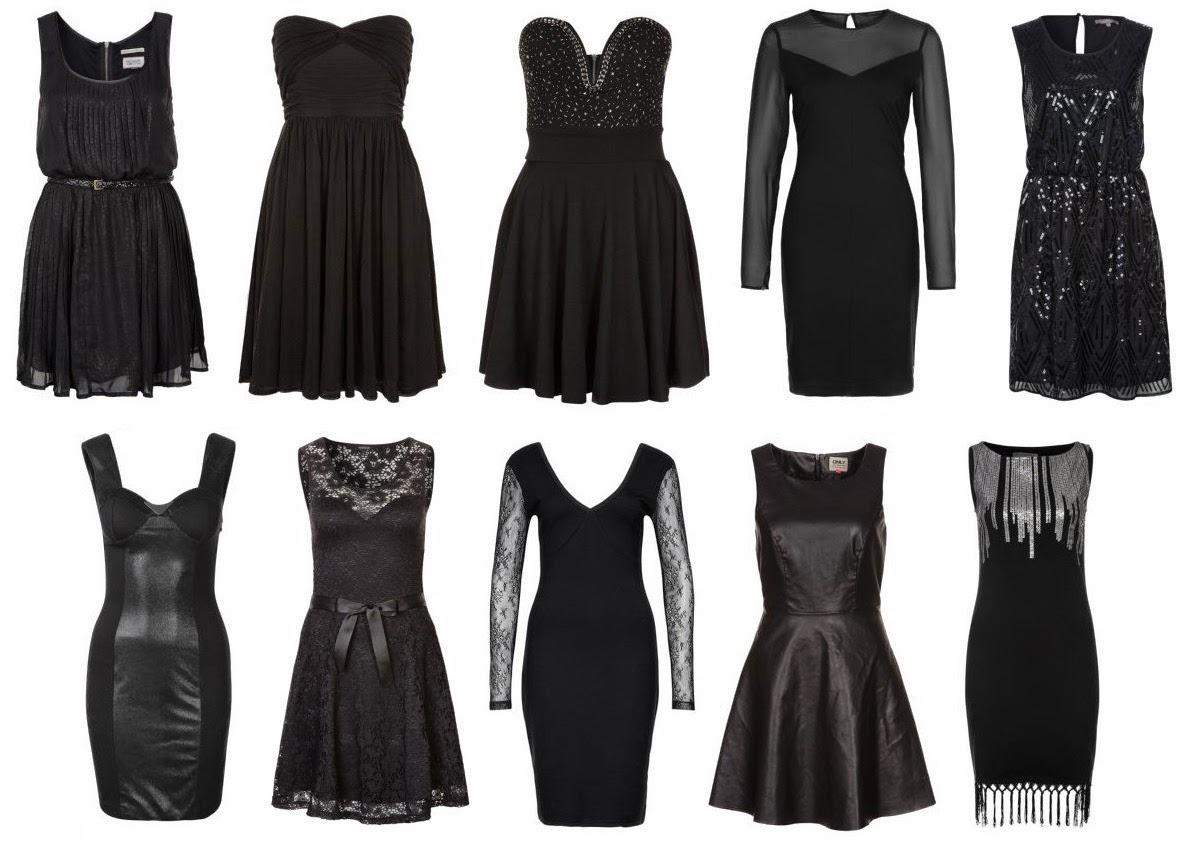 Vestido negro con strass en la cintura