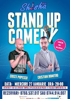 Stand-up Comedy Miercuri 27 Ianuarie Bucuresti