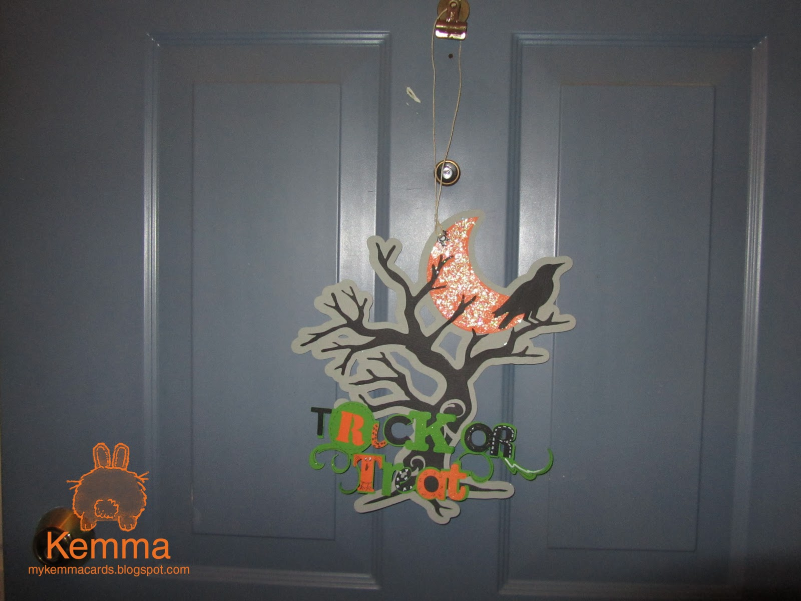 Decorating Ideas > Kemmas Cards Halloween Door Decoration ~ 151936_Halloween Door Greetings