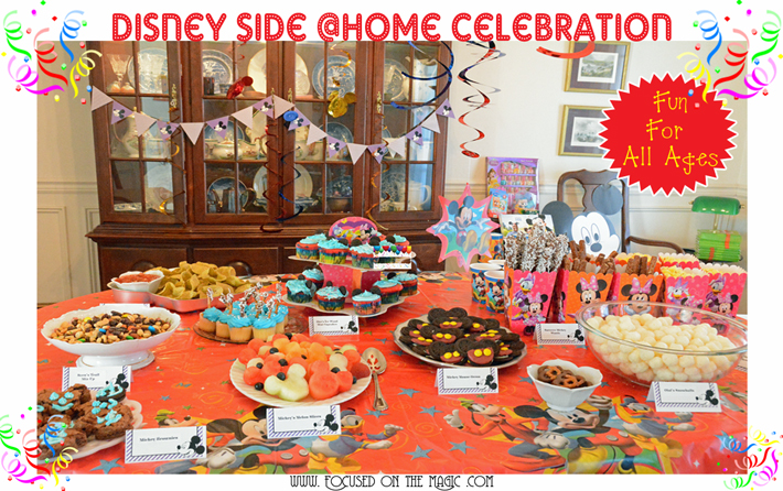 Our Disney Side @ Home Celebration Part II: Disney Style Buffet