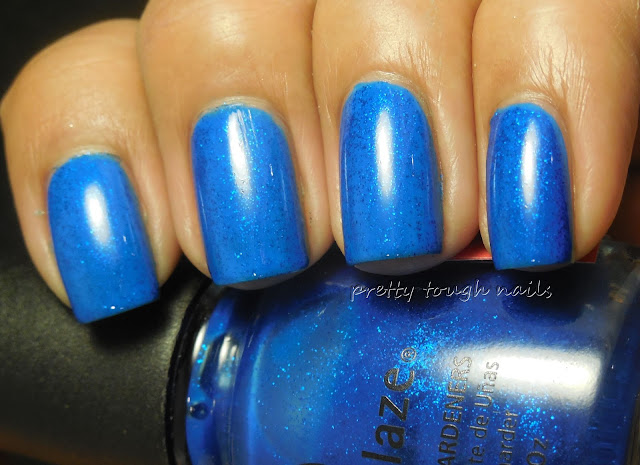 China Glaze Blue Sparrow Neon Over Wet n' Wild Listening To The Reed