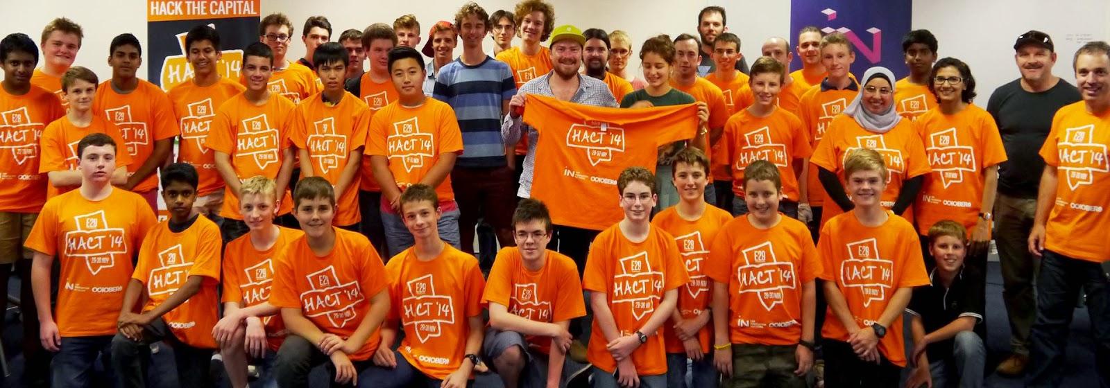 Hackathon ACT 2014 participants