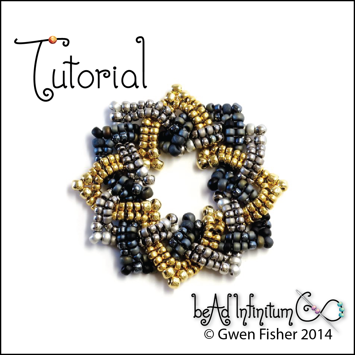 Circular Celtic Knot Pattern with Bead Weaving
