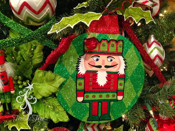 RAZ Nutcracker Flat Disk Ornament at Trendy Tree