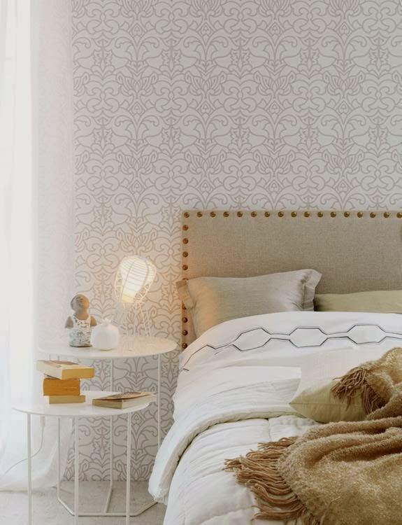 M nica castillo ideas para decorar el dormitorio principal - Cabeceros tapizados con tachuelas ...