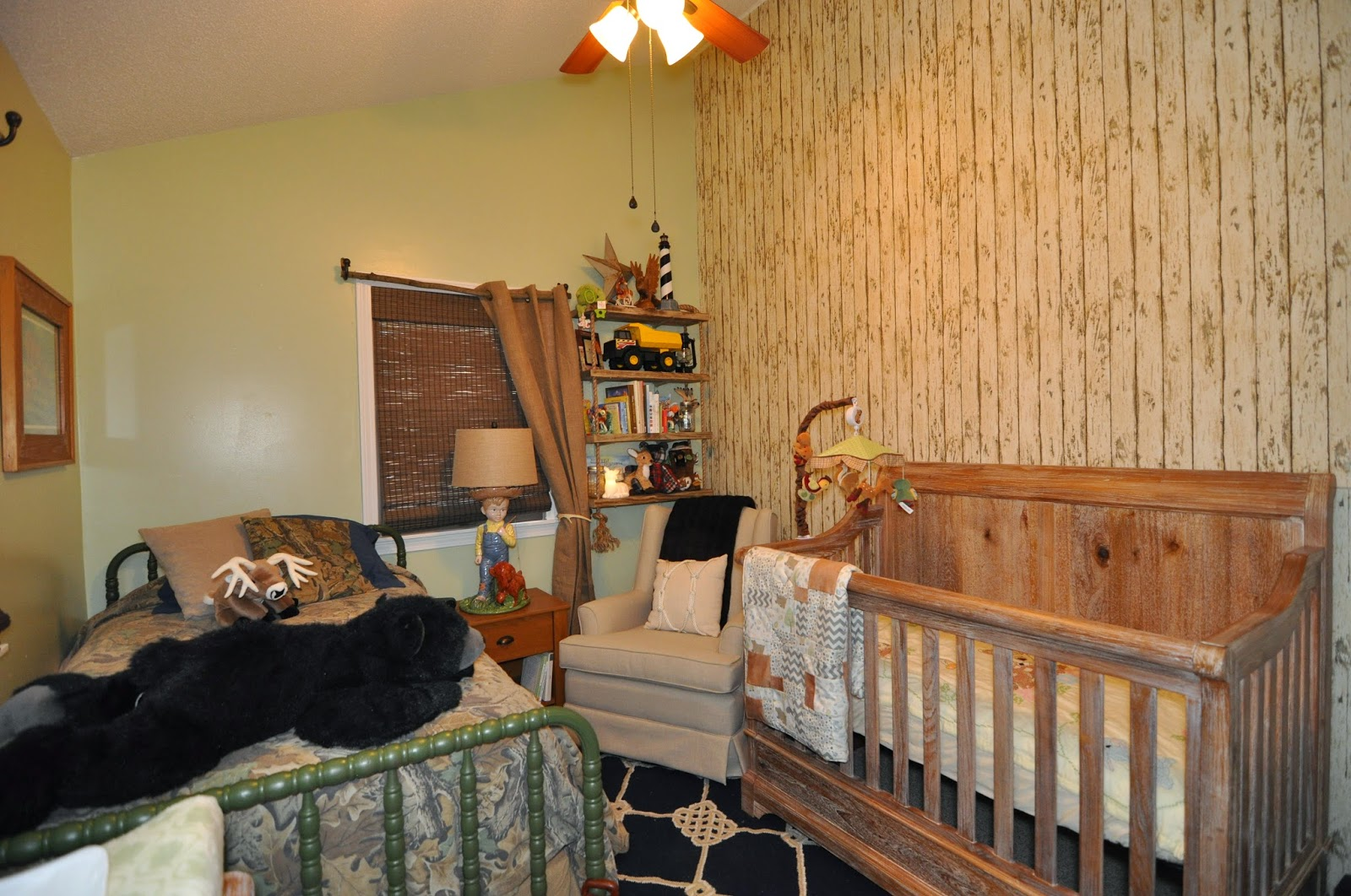 Camoflauge, Rustic Wood, Green, Outdoorsy Hunting Nursery, Boys Nursery