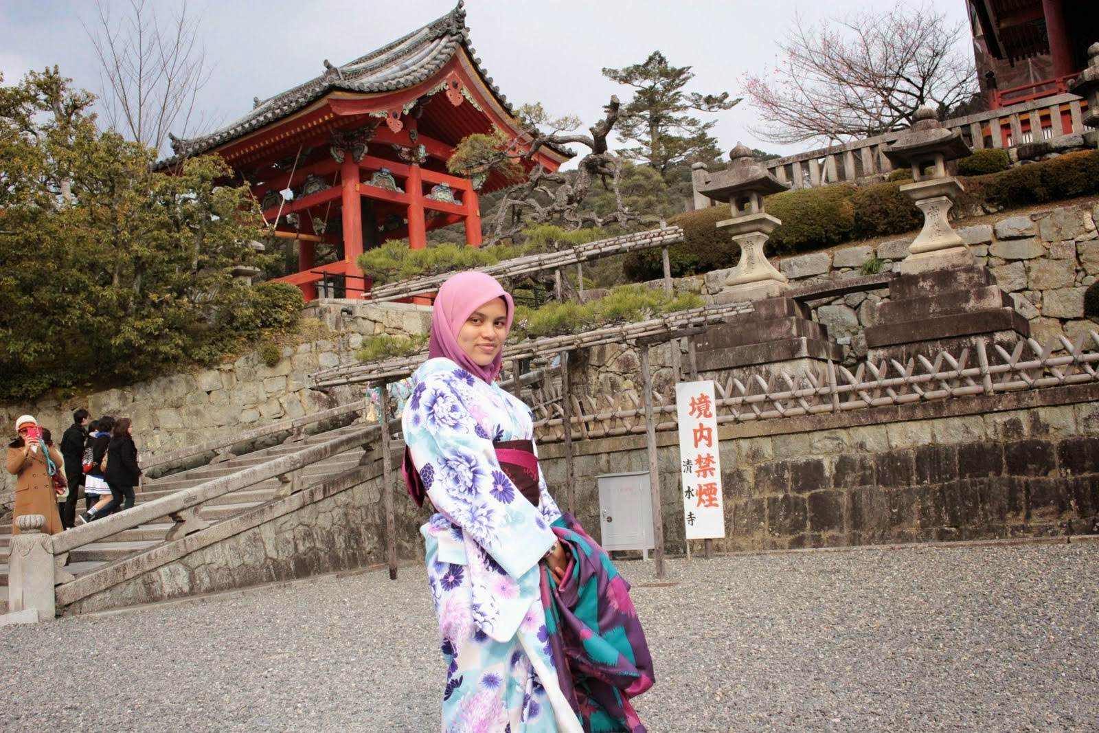 Kimono at Kiyomizudera