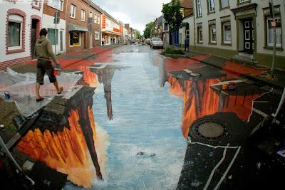 Unik - Lukisan Jalanan 3 Dimensi