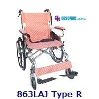 Kursi Roda Aluminium 863LAJ Tipe R