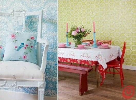 a continuacin algunas fotos de diferentes diseos con papeles pintados elegantes femeninos estilo vintage ideales para el de paredes en