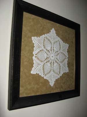 Grandma's Hand Crocheted Doily Wall Art