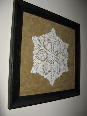 Grandma's Hand Crocheted Doily Wall Art