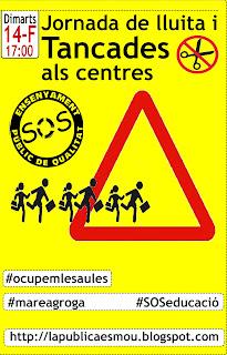 Tancament centres ocupemlesaules CCOO mareagroga