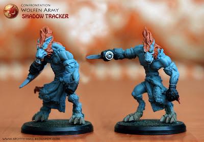 Фигурки Shadow Tracker из игровой системы Confrontation: Wolfen Army