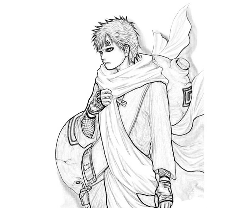gaara coloring pages - photo#29