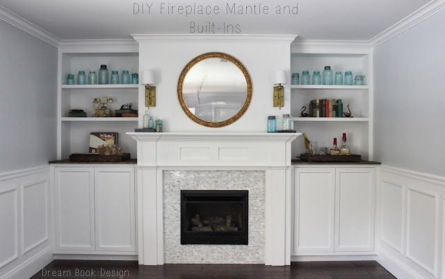 Fireplace Mantle And Built Ins Reveal Dream Book Design