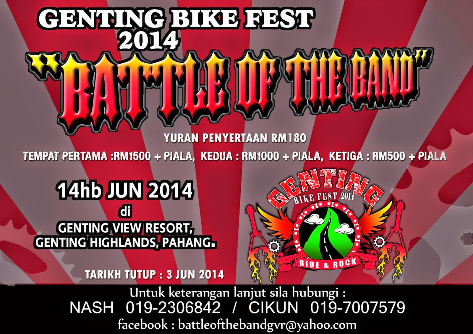 Event: Battle Of The Band Genting Bike Fest 2014