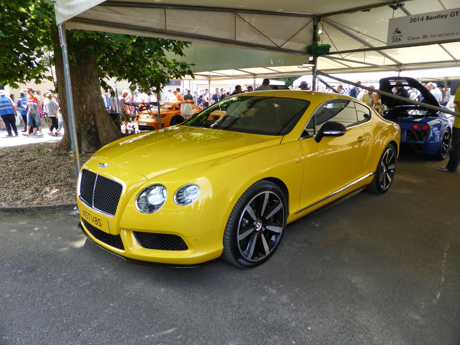 Bentley GT V8 S in the supercar paddock