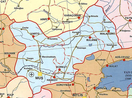 Mu� Siyasi Haritas�