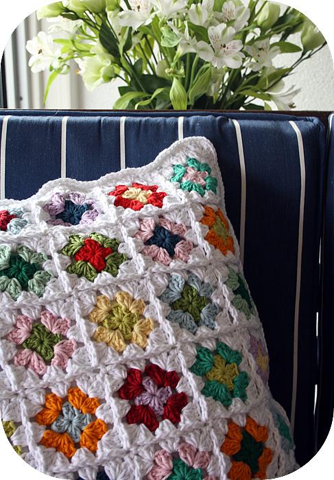 granny square pillow case