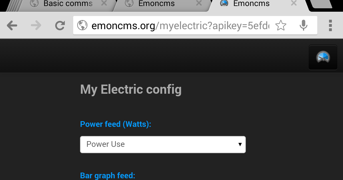 ARCHIVE: : Emoncms Mobile View (My Electric)