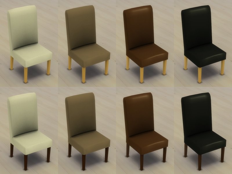 My sims 4 blog modern 6 seater dining table and chair set for 4 seater dining room table and chairs
