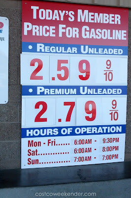 Costco gas for Oct 13, 2015 at Redwood City, CA