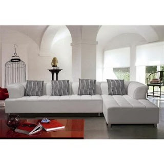 Modern Sectional Sofa in White By TOSH Furniture