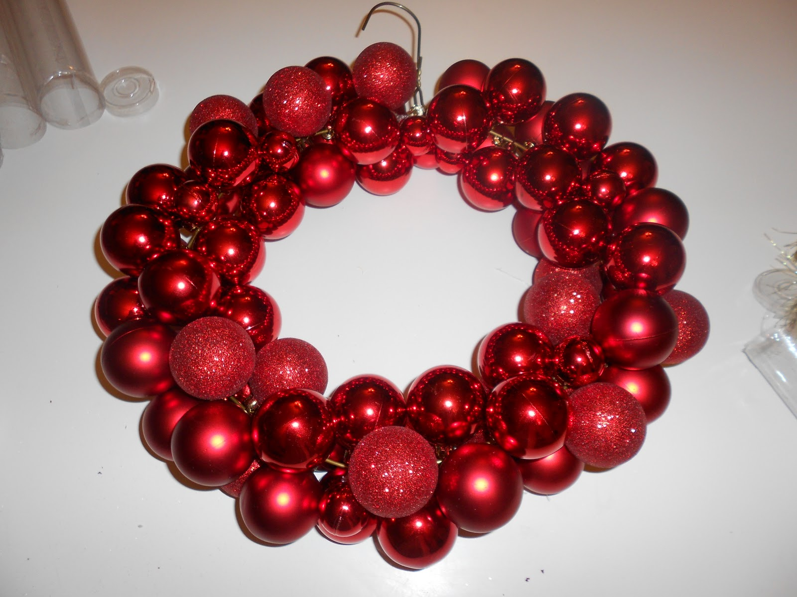 Christmas wreath ornaments - When You Have Strung All Your Ornaments On Use Your Pliers To Twist The Hanger Back Together