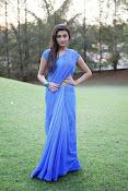 Neelam Upadhyay pics in Blue saree-thumbnail-14