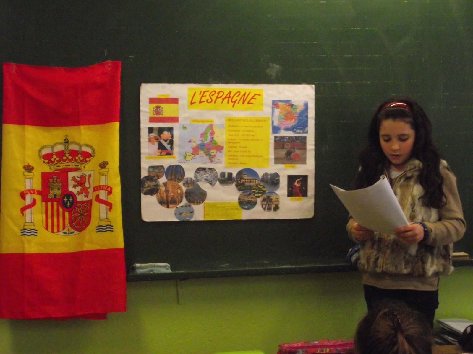 Ecole Ste Marie: Les CE2-CM1 présentent leurs exposés