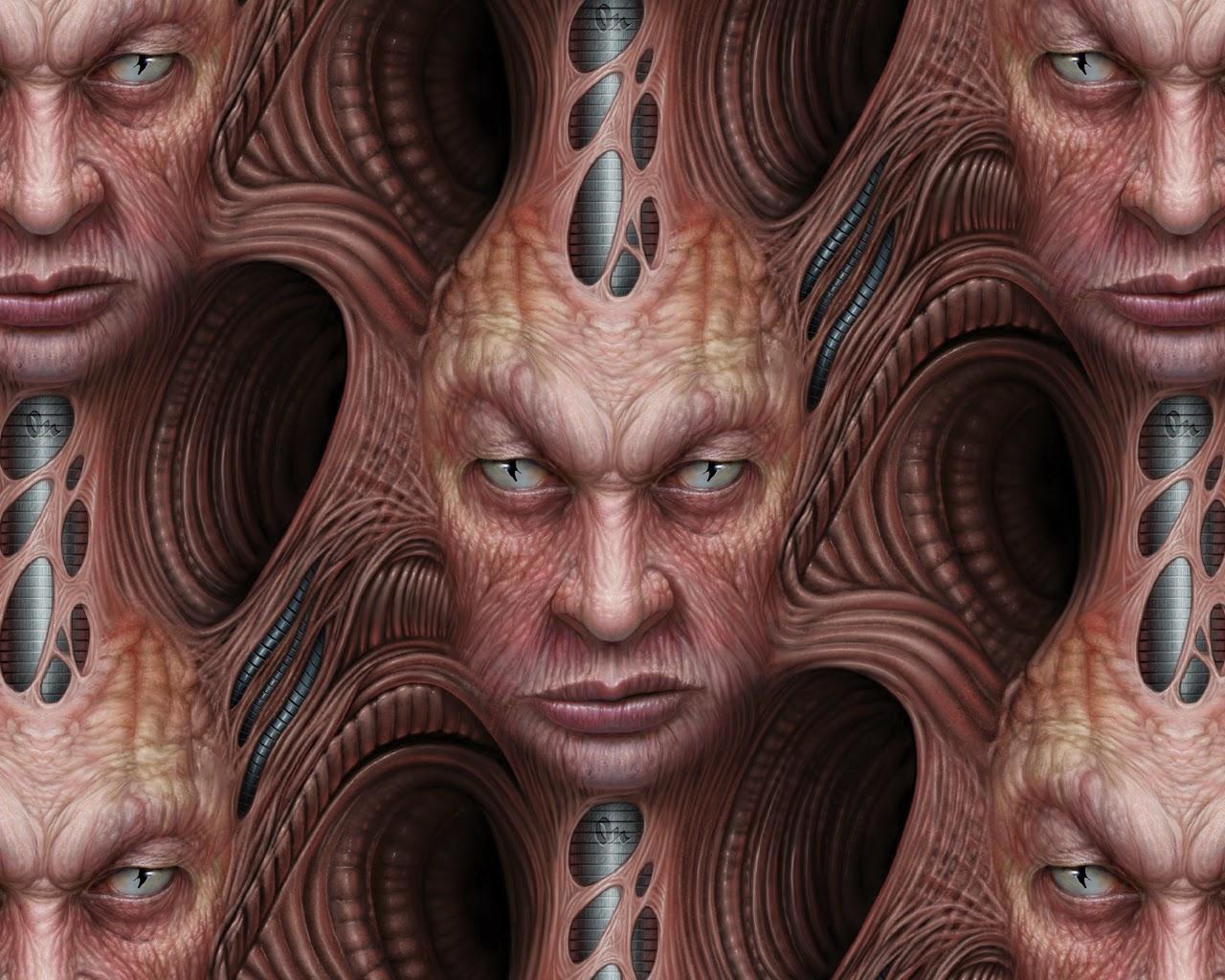 illustration de Martin de Diego Sádaba représentant des visages emmelés de manière organique