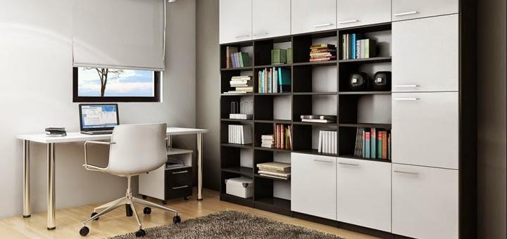 Nea muebles a medida despacho en casa y zona de estudio for Imagenes de oficinas en casa