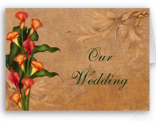 Calla wedding invitations