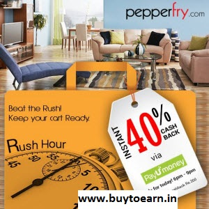 Pepperfry Extra 30% cashback with PayUMoney Wallet