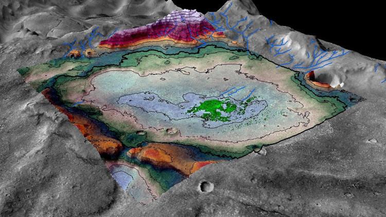 Hallan el que podría haber sido el último lago habitable de Marte.