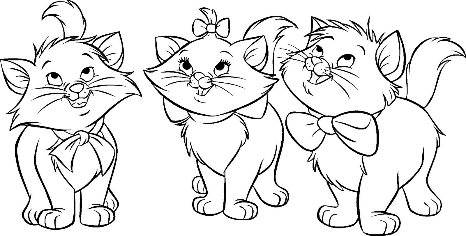 Imagens para Colorir da Gatinha Marie da Disney - imagens para colorir da gatinha marie
