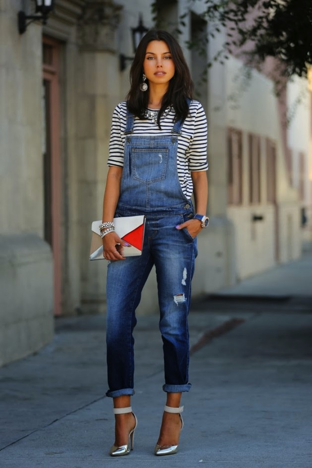latest summer trend stripes and overalls