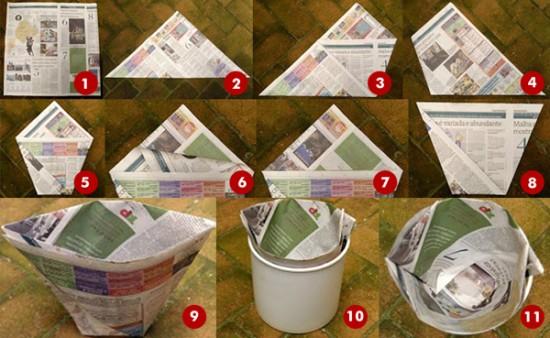 O prazer do verde fa a saquinhos de jornal for Como criar cachamas en tanques plasticos