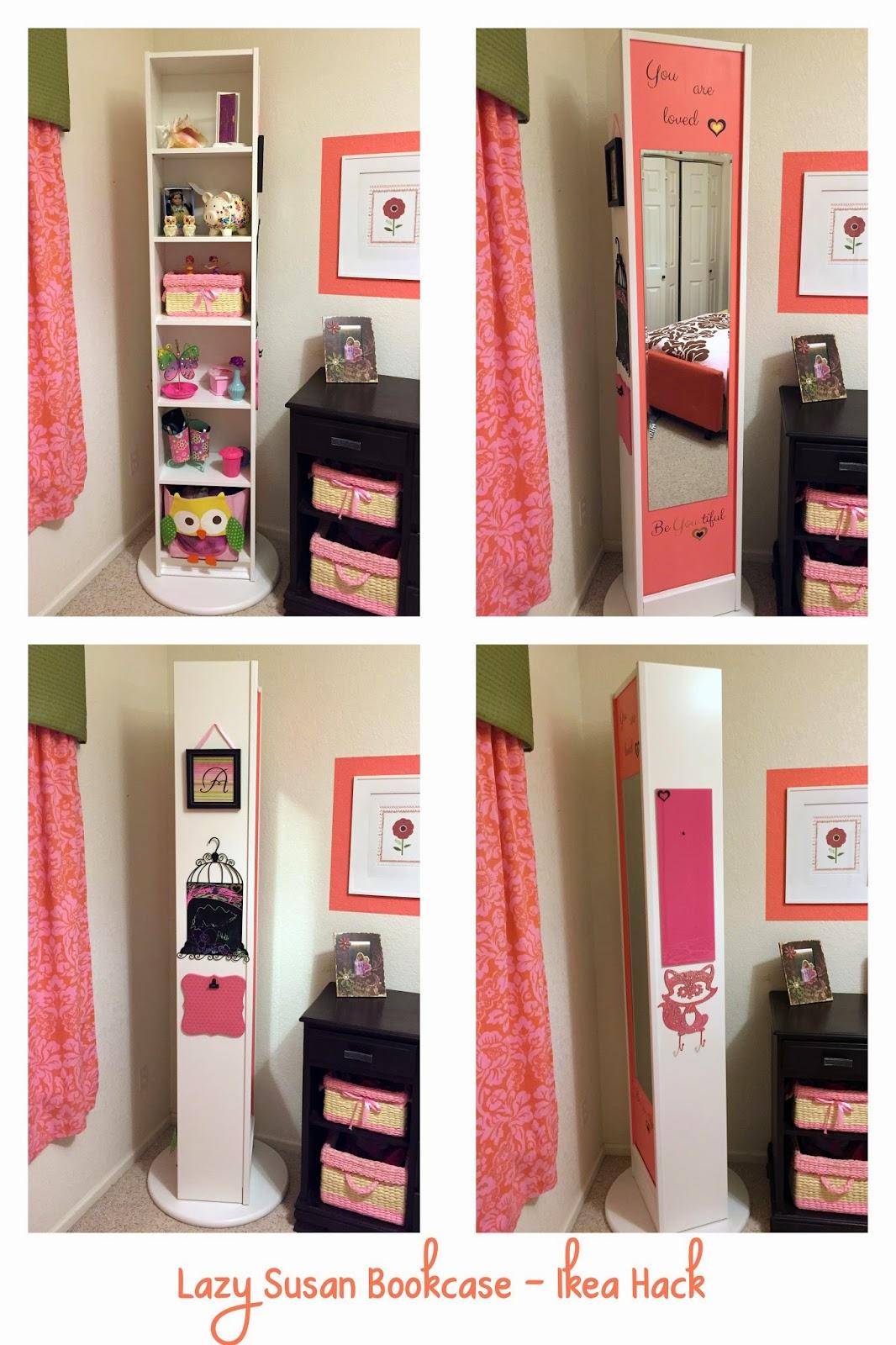 naughton your life lazy susan bookcase ikea hack. Black Bedroom Furniture Sets. Home Design Ideas