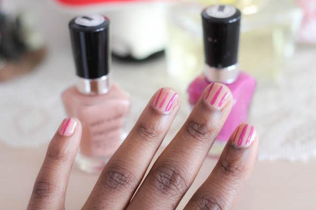 DIY Striped Nails