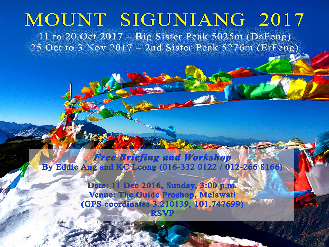 Invitation to hike Mount Siguniang 2017