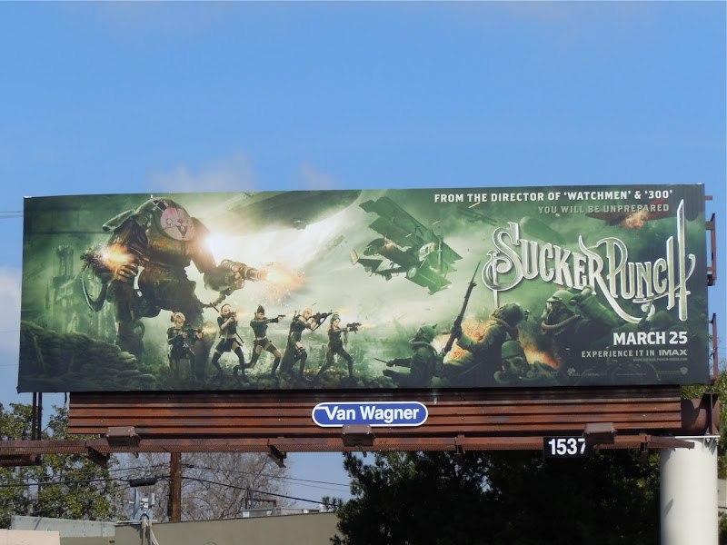 Sucker Punch film billboard