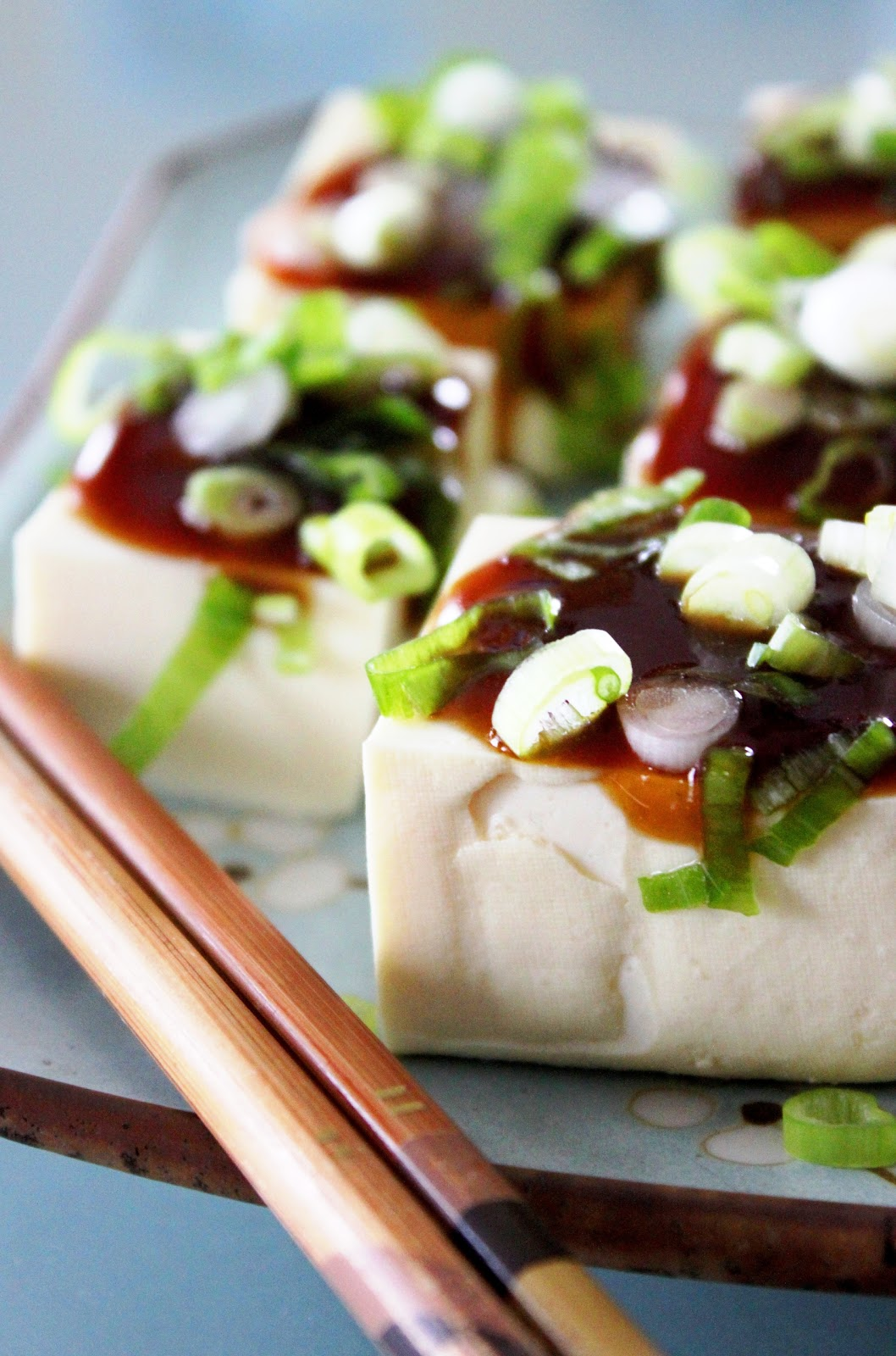 Chilled Tofu Salad with Sweet Soysauce and Scallions | My ...