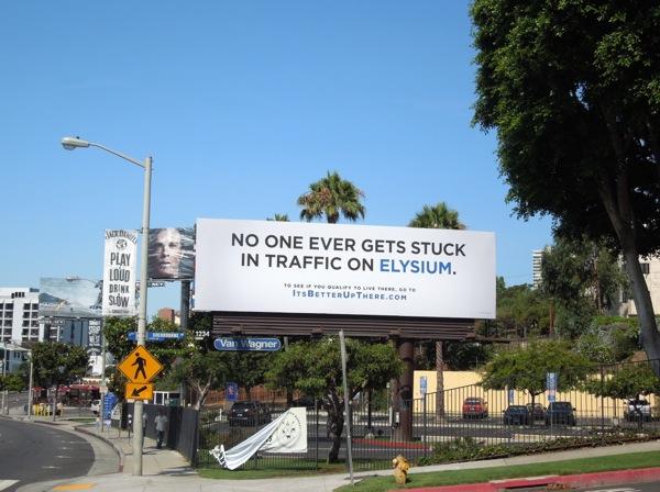Elysium movie teaser billboard