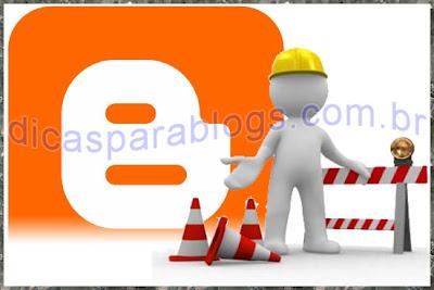 aviso de blog em manutenção