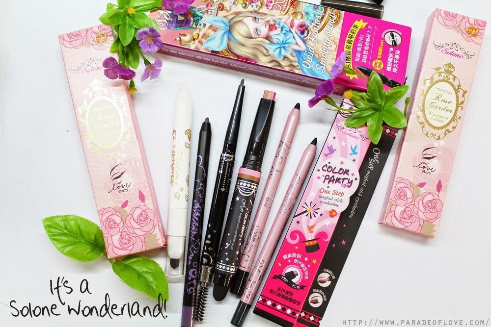 Solone Eyeliners, Eyebrow Pencil and Eyeshadow