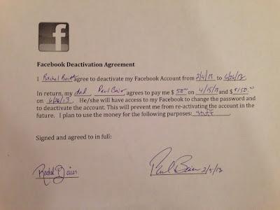 Pai paga a filha para deixar o Facebook