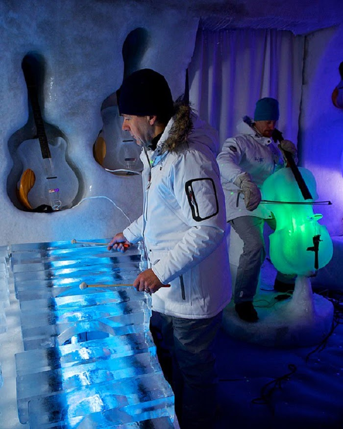The Ice Music concerts started at the end of December 2013 and continues to beginning of April 2014.